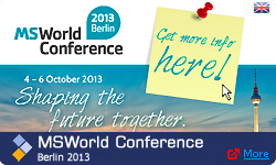 MS World Conference 2013 Berlin